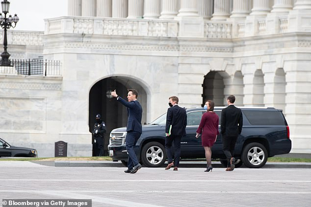 Hawley was also photographed giving Trump supporters a thumbs up. That crowd would later break inside the Capitol Building in a violent siege that lasted hours