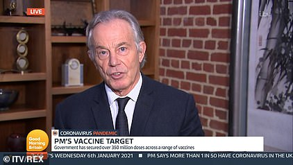 The former prime minister said there was a need to dramatically accelerate the vaccine programme