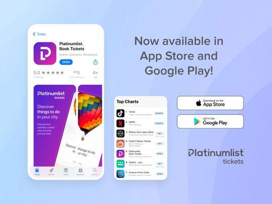 Platinumlist ranks 5th in UAE App Store