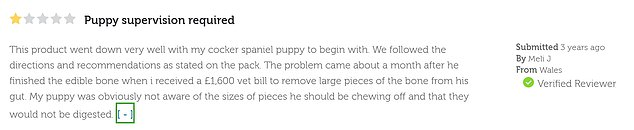 Kieran and Ivy claimed they found several complaints on the Pets At Home website which called the toy a chocking hazard