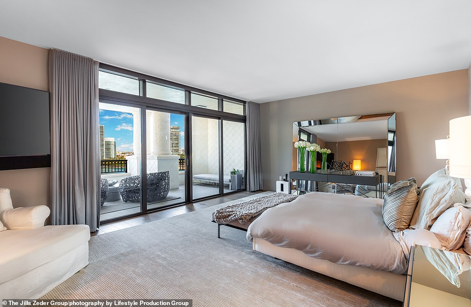 Big rooms: The five bedrooms were spacious in the large home