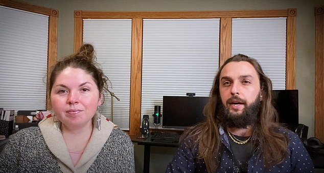 Jeff and Shaleia vehemently deny any allegations of wrongdoing and claim the attacks are part of a conspiracy theory to 'destroy' the Twin Flames Universe. Above, a grab from a recent video denouncing the attacks