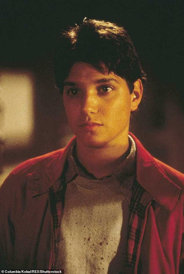 Throwback:He became a household name at 22 with his role as Daniel LaRusso in the 1984 hit The Karate Kid; pictured in the film in 1984