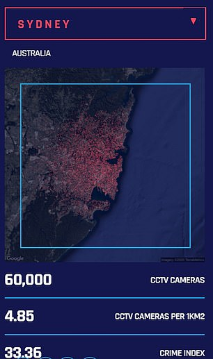 Sydney is the most surveilled city in Australia with 60,000 cameras installed across the area watching our daily routines