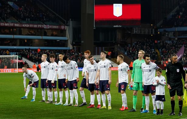 Liverpool fielded a young team at Aston Villa in the Carabao Cup last season
