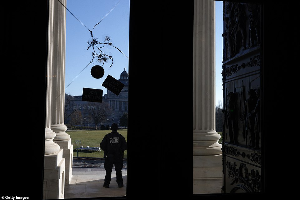 The Capitol sustained damage as rioters broke windows, kicked down doors and climbed scaffolding to gain entry to the legislature