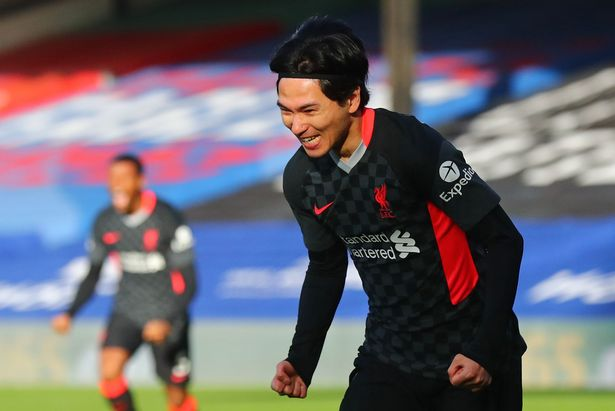 Minamino scored in his last appearance against Crystal Palace