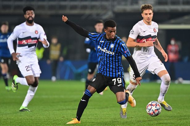 Amad Diallo for in action for Atalanta.