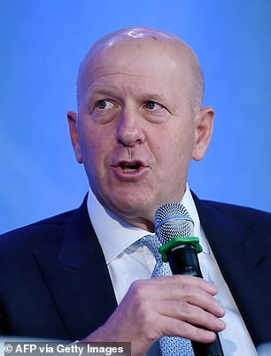 CEO David Solomon, pictured above, had condemned the violence on Wednesday