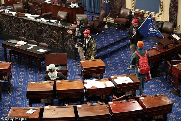 Protesters made it into US Senate Chamber as Congress held a joint session to ratify President-elect Joe Biden's 306-232 Electoral College win over President Donald Trump