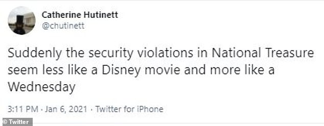 Life imitates art: Another person wrote the 'security violations' in the film no longer seemed outrageous in view of Wednesday's news