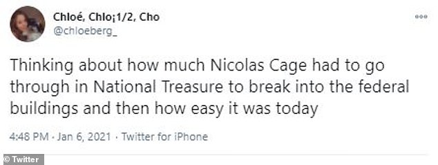 Too much work: One user wrote that Cage had a much harder time trying to break into the National Archive
