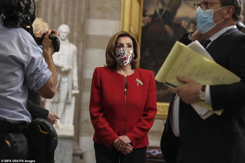 Nancy Pelosi, House speaker, is pressing ahead with plans to file articles of impeachment on Monday if Trump does not resign