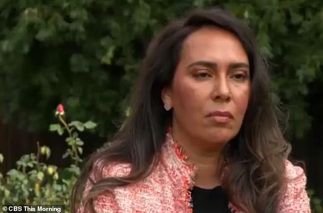 Sharen Ghatan (pictured) spoke out about her client 22-year-old Ponsetto after a tense TV interview on Friday morning