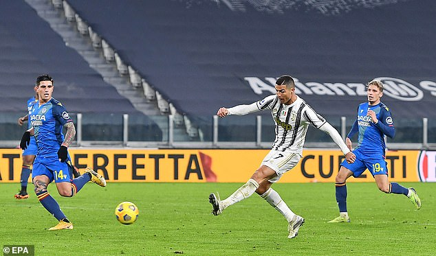 The Juventus striker hit goals number 757 and 758 in a 4-1 win over Udinese last Sunday night