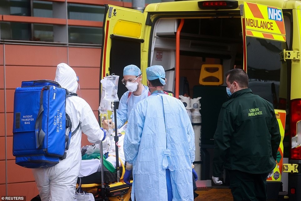 An ambulance arrives at the Royal London Hospital today amid fresh warnings about the spread of the virus