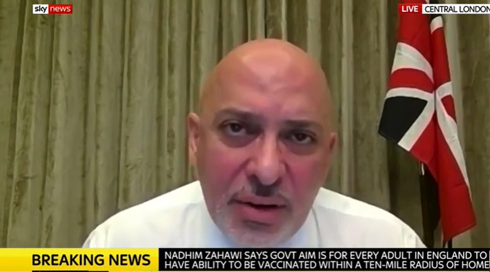 Vaccines minister Nadhim Zahawi this morning suggested that shops are in the firing line, stressing the need for everyone to wear masks and follow one-way systems in supermarkets