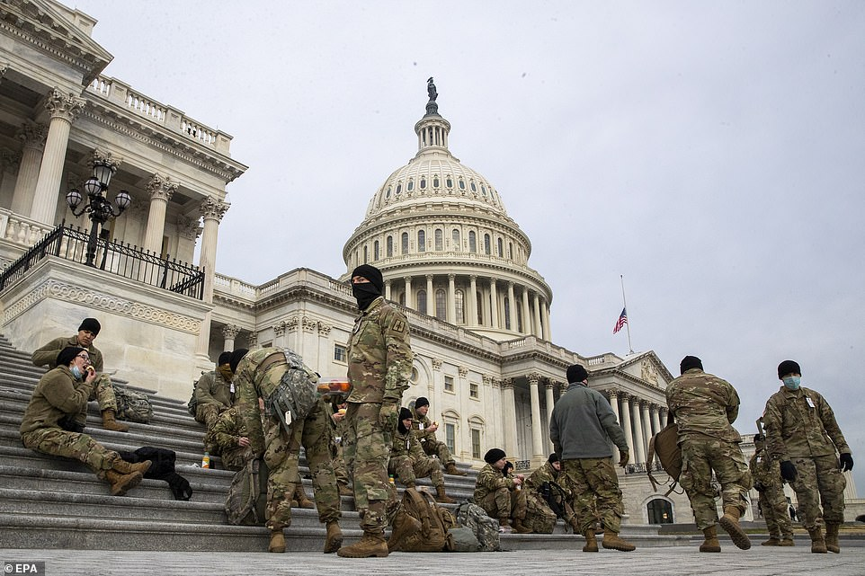 The Pentagon is now considering sending as many as 13,000 guardsmen to secure the nation's capital on Inauguration Day, January 20. Prior to the Capitol breach, officials had planned to deploy roughly 7,000 guardsmen