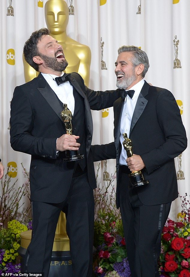 Multiple roles: In addition to directing the upcoming film, Affleck is set to both produce the film and co-write the screenplay with Kate Gritmon; he is pictured in 2013 with George Clooney after winning for Argo