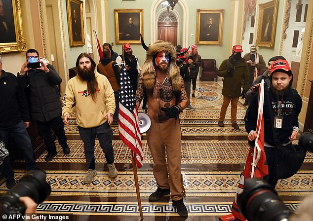 Demonstrators breeched security and entered the Capitol as Congress debated the 2020 presidential election Electoral Vote Certification