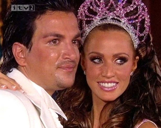 Katie Price and Peter Andre smile on their wedding day