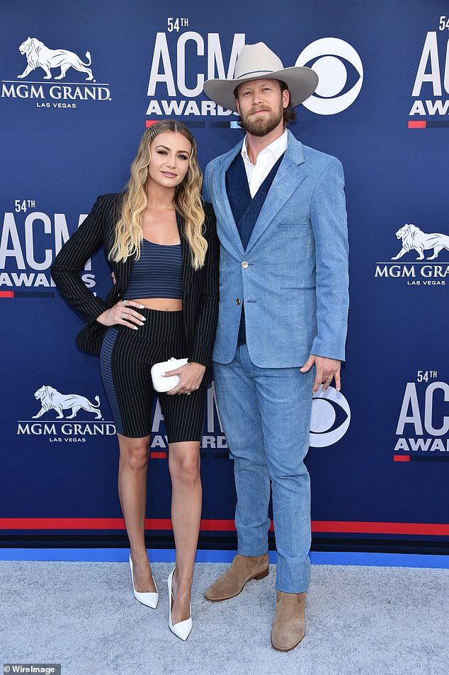 Duo: Brittney and Brian Kelley seen in April 2019