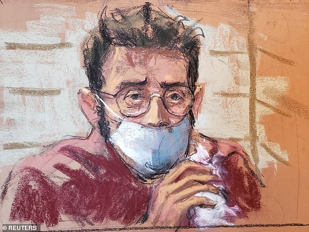 Mostofsky, shown in a court sketch, appeared virtually before US Magistrate Judge Sanket Bulsara on Tuesday