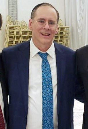 Mostofsky, 34, who is the son of Judge Shlomo Mostofsky (pictured), was released on $100,000 bond on Tuesday afternoon