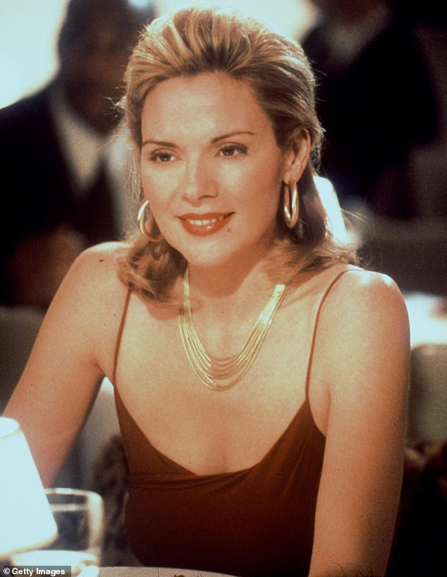 Looking fab: Kim became a TV icon as sex-mad publicist Samantha Jones on Sex And The City during its original run on HBO from 1998 to 2004
