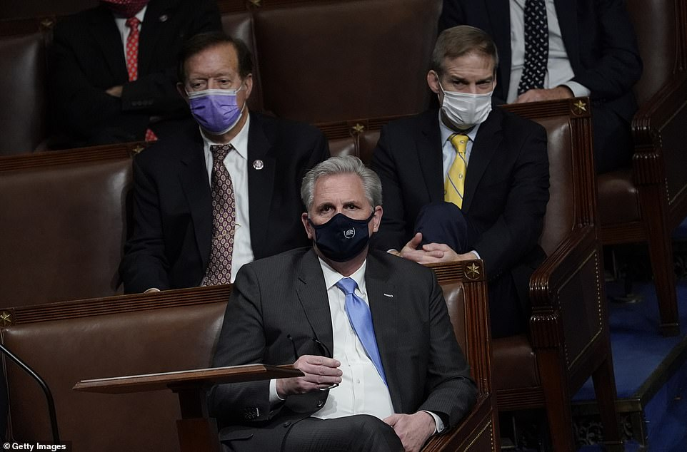 House Minority Leader Kevin McCarthy (R-CA) pleaded with Trump during the riot