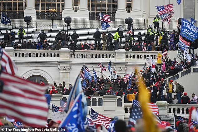 Trump supporters shed blood:This comes a week after the deadly Capitol riots in Washington, DC on January 6 left five dead