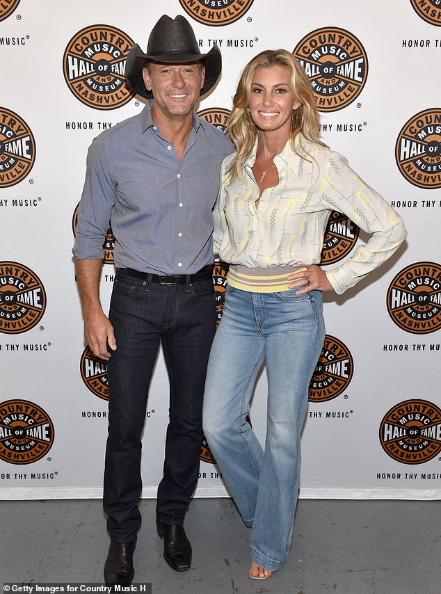 Country royalty: McGraw (L) and his wife Faith Hill (R) attend the All Access program at The Country Music Hall Of Fame And Museum's CMA Theater in 2018