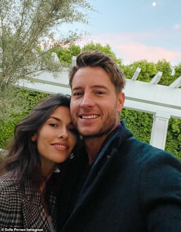 Longtime coming: The pair first met on the set of Young And The Restless in 2015 and remained friends afterwards, only taking their relationship to the next level when Hartley and Stause called it quits; Sofia and Justin pictured on December 31