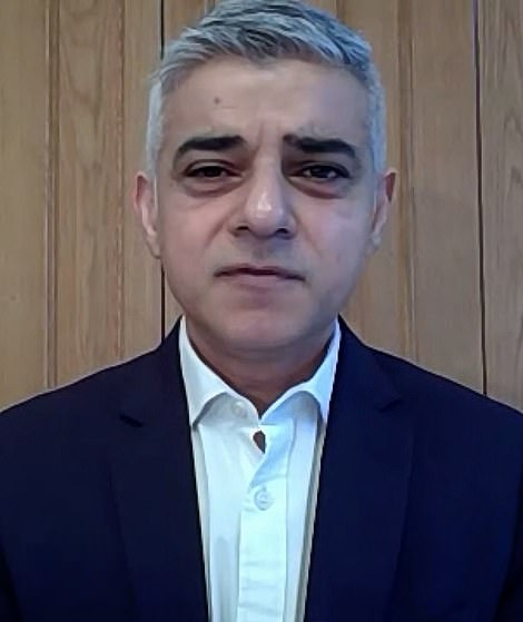 It comes after Mayor Sadiq Khan (pictured) declared a 'major incident' in the capital as Covid cases continue to rise