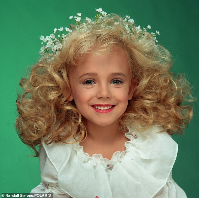 This is the well known photograph of JonBenét Ramsey was taken in 1995, the year before her murder
