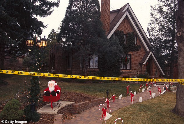 The Ramsey family home (above) where JonBenét's body was discovered on December 25, 1996