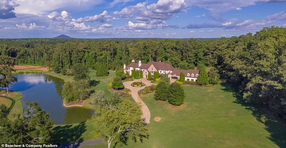 Breathtaking:Records show that a company connected to his business managers paid $9.5 million in October 2019 to scoop up the stunning home on the edge of Atlanta, Mansion Global reported