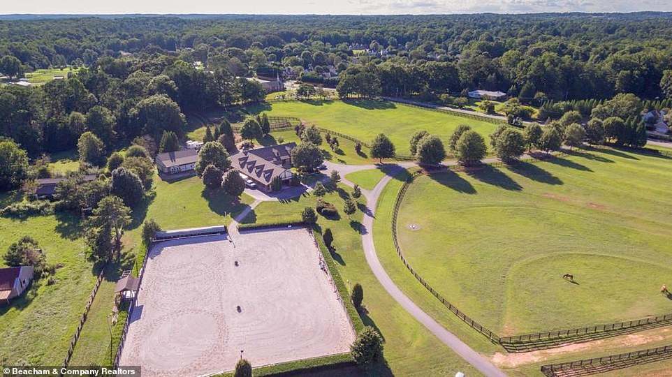 Spot it:Naturally for an equestrian farm the home is chockablock with opportunities for outdoor entertainment - residents and guests can pop over to the viewing deck overlooking the riding arena