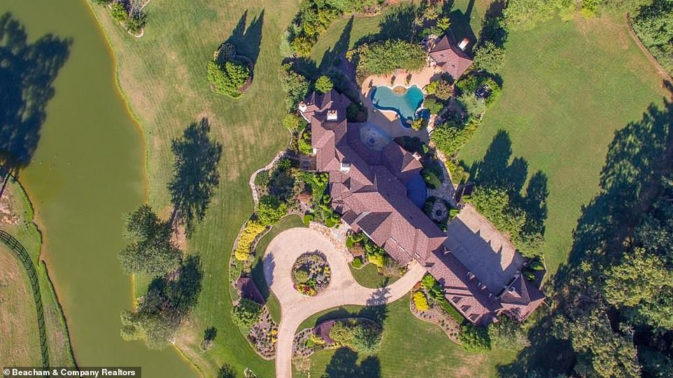 There is a lot of space around this mega mansion: Aerial shots of the property give a sense of its incredible scope