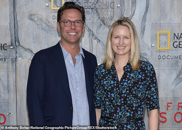 In 2020, James, and his wife Kathryn (pictured together above) spoke out against the family business for promoting climate change 'denials' during the Australian bushfire crisis