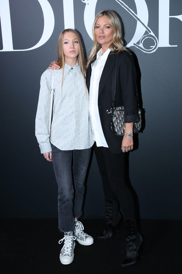 Kate Moss and his daughter Lila Grace last year