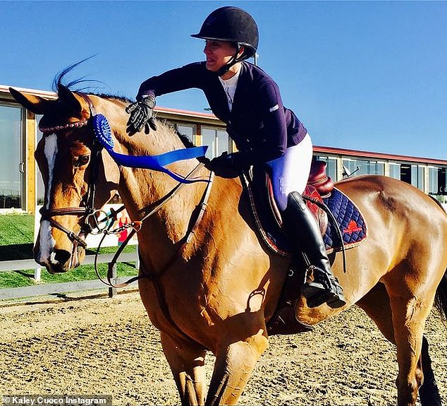 Soulmates: The actress drew comparisons between herself and her horse, noting that both of them were performers and preferred to dedicate themselves 100 percent to something and live in the moment