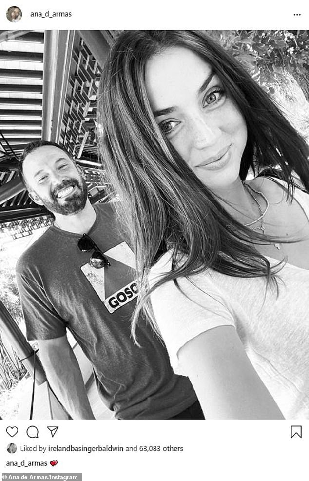 All smiles: Ana shared this photo of the couple in August