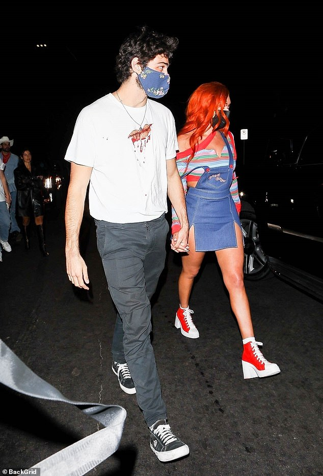 Still dating? Karanikolaou last made headlines for holding hands with To All the Boys heartthrob Noah Centineo (L) outside a private LA Halloween party despite strict gathering guidelines due to the coronavirus
