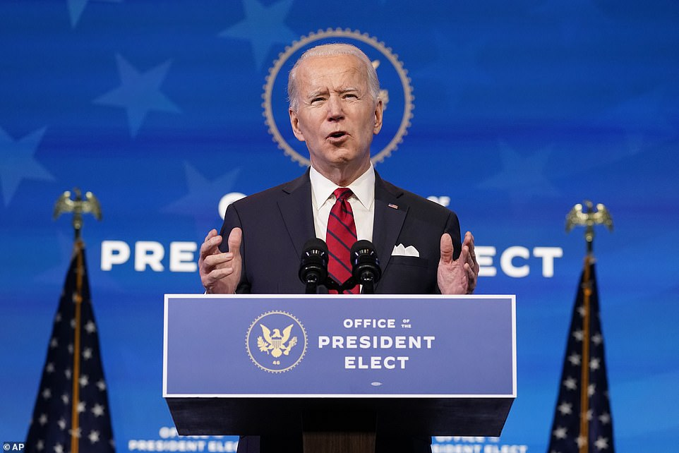 President-elect Joe Biden pledged to get 100 million Americans vaccinated in his first 100 days in office