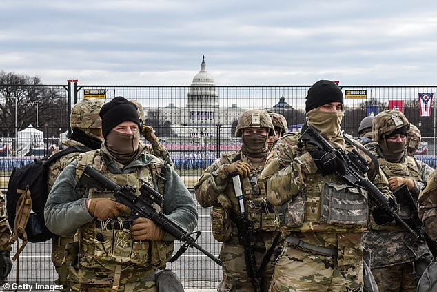 Around 25,000 National Guard troops descended on Washington D.C. over the last two weeks as they were deployed there from all over the country to patrol the nation's capital in the wake of the chaos