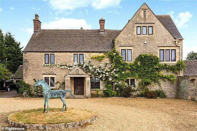 This six-bedroom house near Minchinhampton, in Gloucestershire, is for sale for £1,495,000