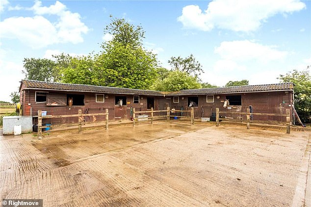 Equestrian facilities: The six-bedroom house (as above) also boasts land and several stables