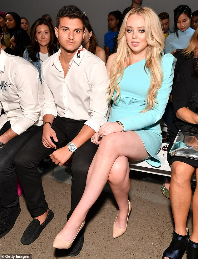 Going public:Tiffany was first spotted with Michael at the Taoray Wang show during New York Fashion Week in September 2018