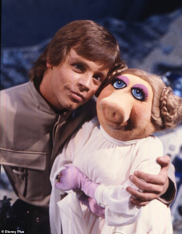 The force is strong with this one:Star Wars icon Mark Hamill memorably acted opposite Miss Piggy in a sketch called 'Pigs in Space' in 1980